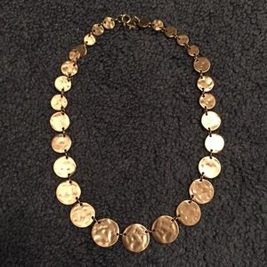 LOFT Bronzed Gold Plate Necklace